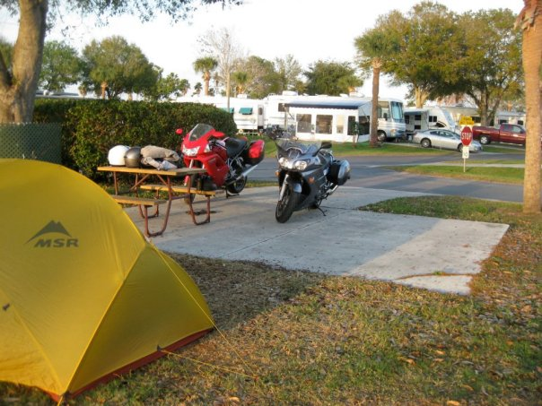 Motorcycle and Camping