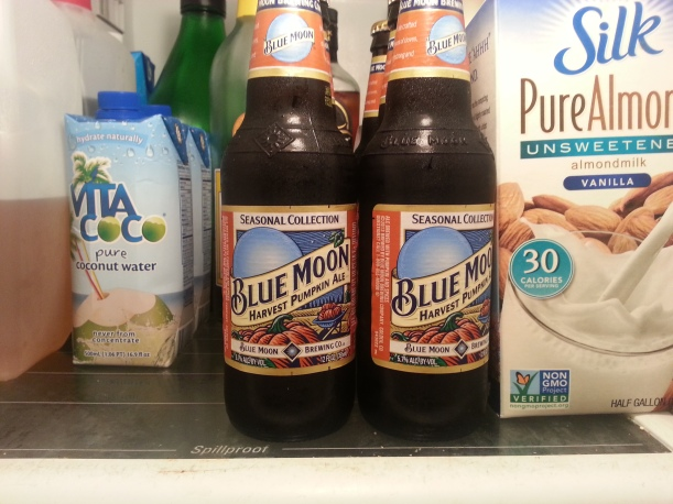 PUMPKIN BEER!!! Not a huge fan of the Blue Moon P.B. I think Shipyard is next on the list