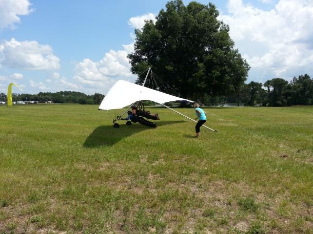 Almost airborne!