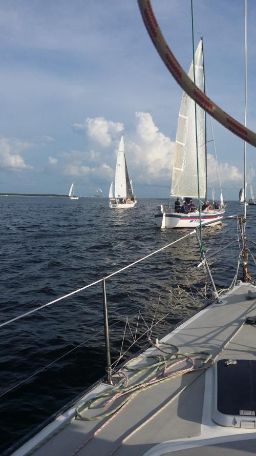 Some more pre-race sailing around