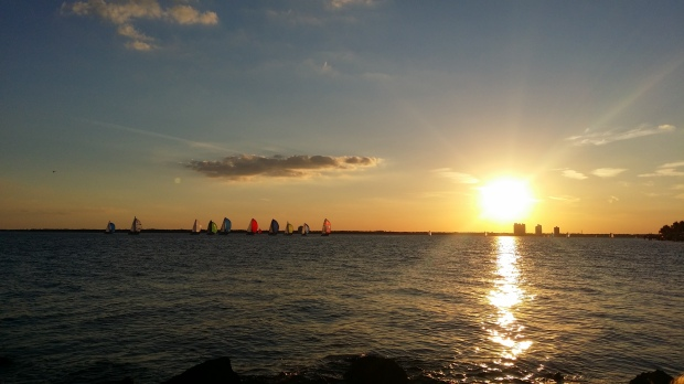 Watched the start of the race one Thursday from the shore.