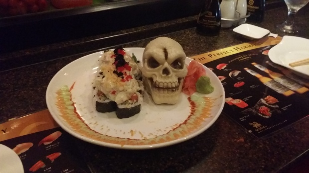 Had many dates with my husband, one of which included Spooky Halloween Sushi!!!