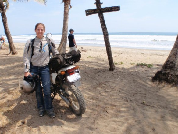 Stopped on the beach as we were riding to Santa Teresa