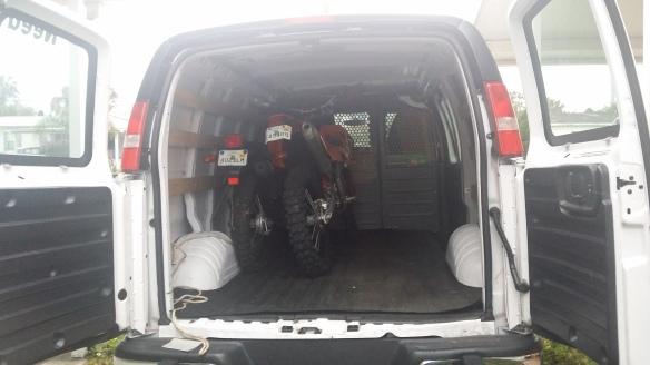 it's like two peas in a pod only it's two bikes in a van